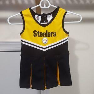 Toddler Pittsburgh Steelers cheerleading dress